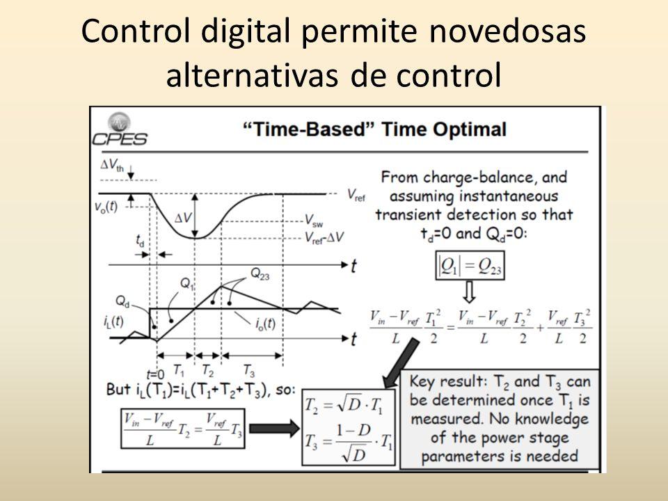 Control digital permite novedosas alternativas de control