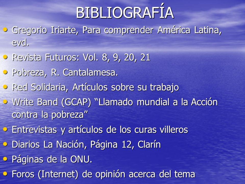 BIBLIOGRAFÍA Gregorio Iriarte, Para comprender América Latina, evd. Gregorio Iriarte, Para comprender América Latina, evd. Revista Futuros: Vol. 8, 9,