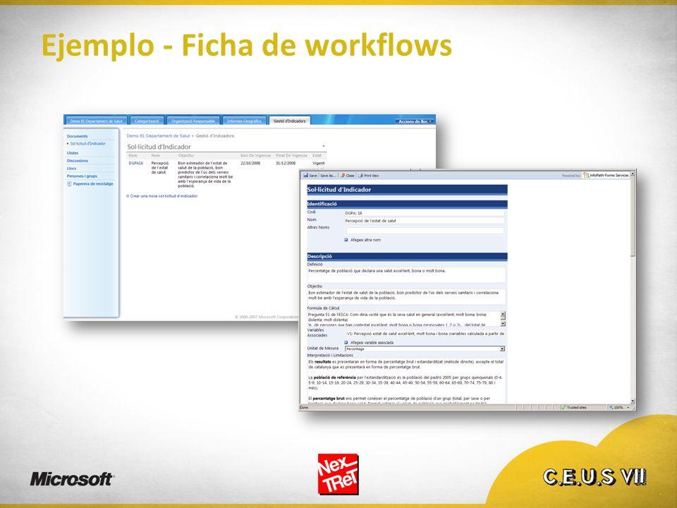 Ejemplo - Ficha de workflows