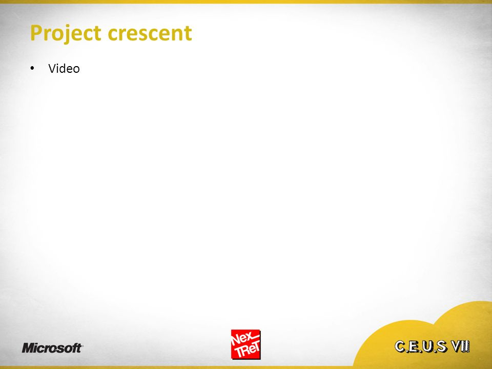 Project crescent Video
