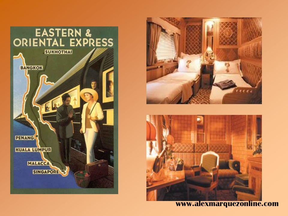 Esta idea de revivir la edad de oro de los viajes por ferrocarril se ha extendido a Asia y Australia. El lujoso Eastern and Oriental Expreso atraviesa