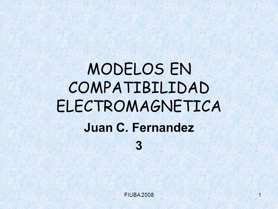 FIUBA 200812 MODELOS EN COMPATIBILIDAD ELECTROMAGNETICA 3 Señales y sistemas lineales Representación de Fourier – Funciones periódicas (cont.): Y es posible obtener los coeficientes del desarrollo con la técnica ya vista: Ejemplo: Tren de pulsos f t T A f t T A c n f f = nf 0 Ciclo de servicio: = /T