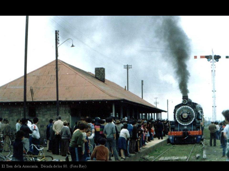 El Tren de la Araucanía. Década de los 80. (Foto Rey)