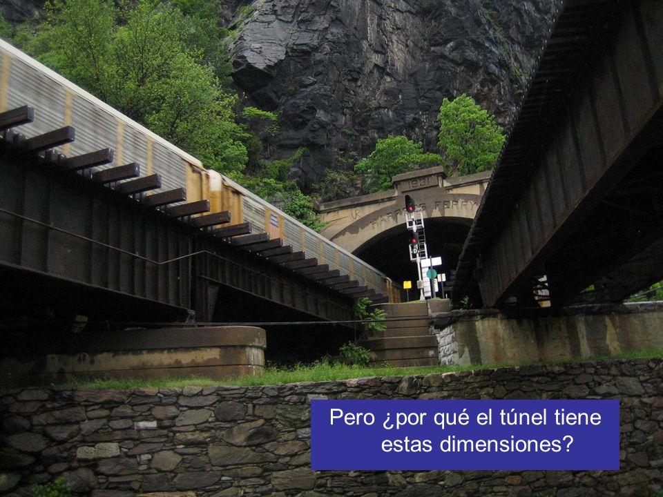 Pero ¿por qué el túnel tiene estas dimensiones