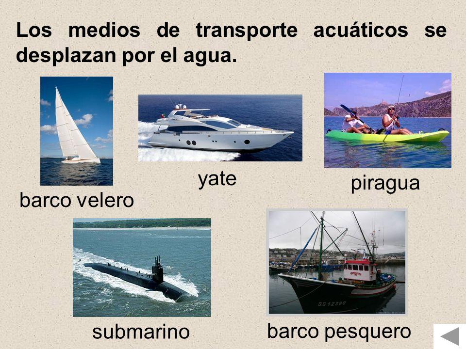 """La presentación """"MEDIOS DE TRANSPORTE MEDIO AÉREO ACUÁTICO ..."""