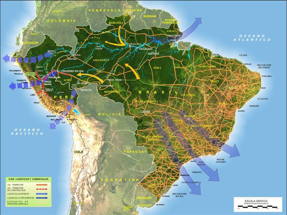 Eje Amazónico Eje Central Lima Callao Eje Interoceánico Sur