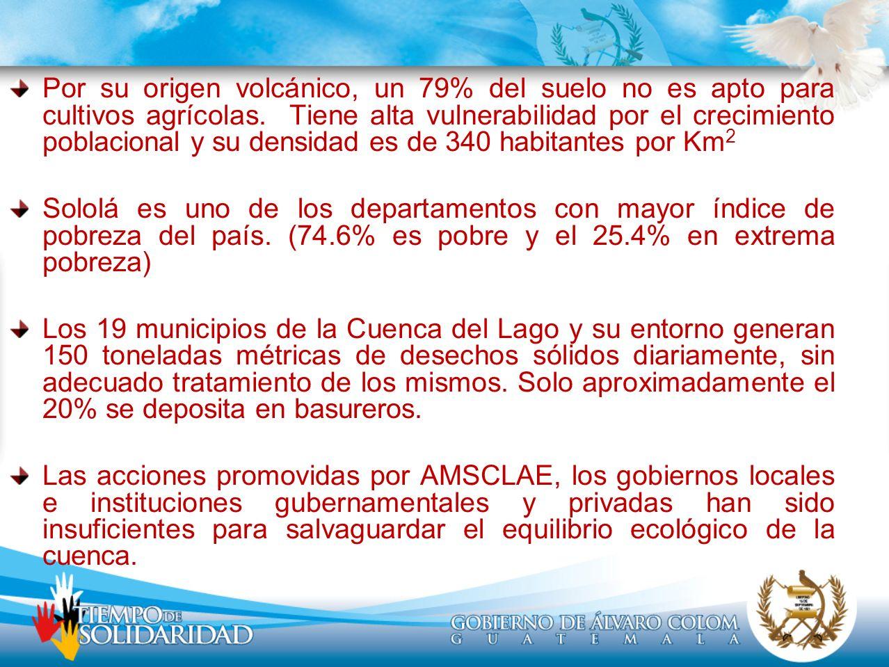 Situación del Lago de Atitlán De Diciembre 2008 a la Fecha En diciembre de 2008, se detectó un florecimiento de 1.2% de Cianobacteria en la superficie del lago, aspecto que alertó y generó la necesidad de realizar un estudio para conocer su comportamiento y su relación con la temperatura, calidad del agua y niveles de incremento de algas, entre otros.