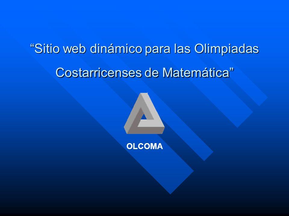 Sitio web dinámico para las Olimpiadas Costarricenses de Matemática OLCOMA