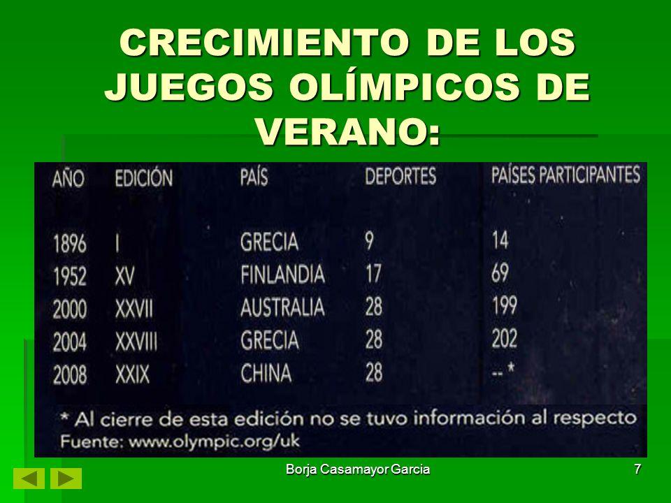 Borja Casamayor Garcia6 Para que un deporte sea participe en la competición olímpica debe cubrir los siguientes requisitos: Para ser incluidas en el programa de los Juegos Olímpicos, las pruebas deben tener un nivel internacional reconocido, tanto en el aspecto numérico como geográfico, y haber figurado por lo menos dos veces en campeonatos mundiales o continentales.