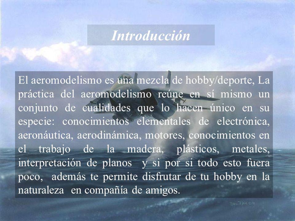 Introducción El aeromodelismo es una mezcla de hobby/deporte, La práctica del aeromodelismo reúne en sí mismo un conjunto de cualidades que lo hacen ú