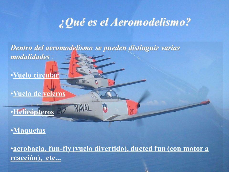 ¿Qué es el Aeromodelismo? Dentro del aeromodelismo se pueden distinguir varias modalidades Dentro del aeromodelismo se pueden distinguir varias modali