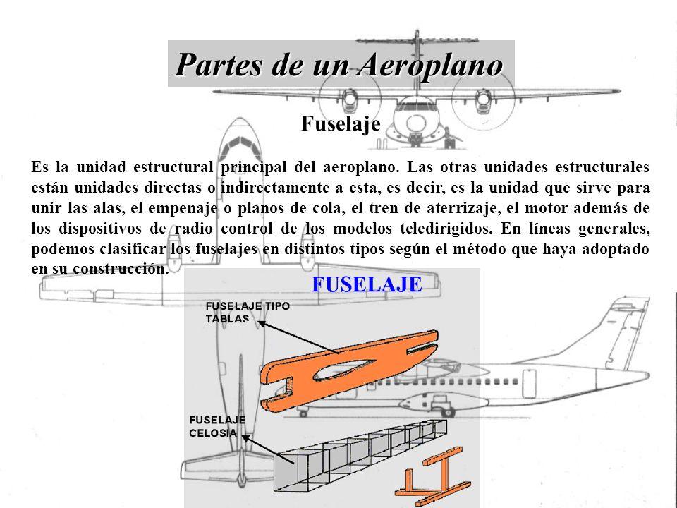 Fuselaje Es la unidad estructural principal del aeroplano. Las otras unidades estructurales están unidades directas o indirectamente a esta, es decir,