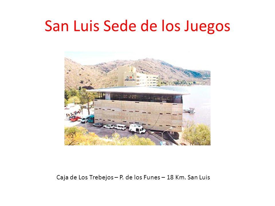 San Luis Sede de los Juegos Caja de Los Trebejos – P. de los Funes – 18 Km. San Luis