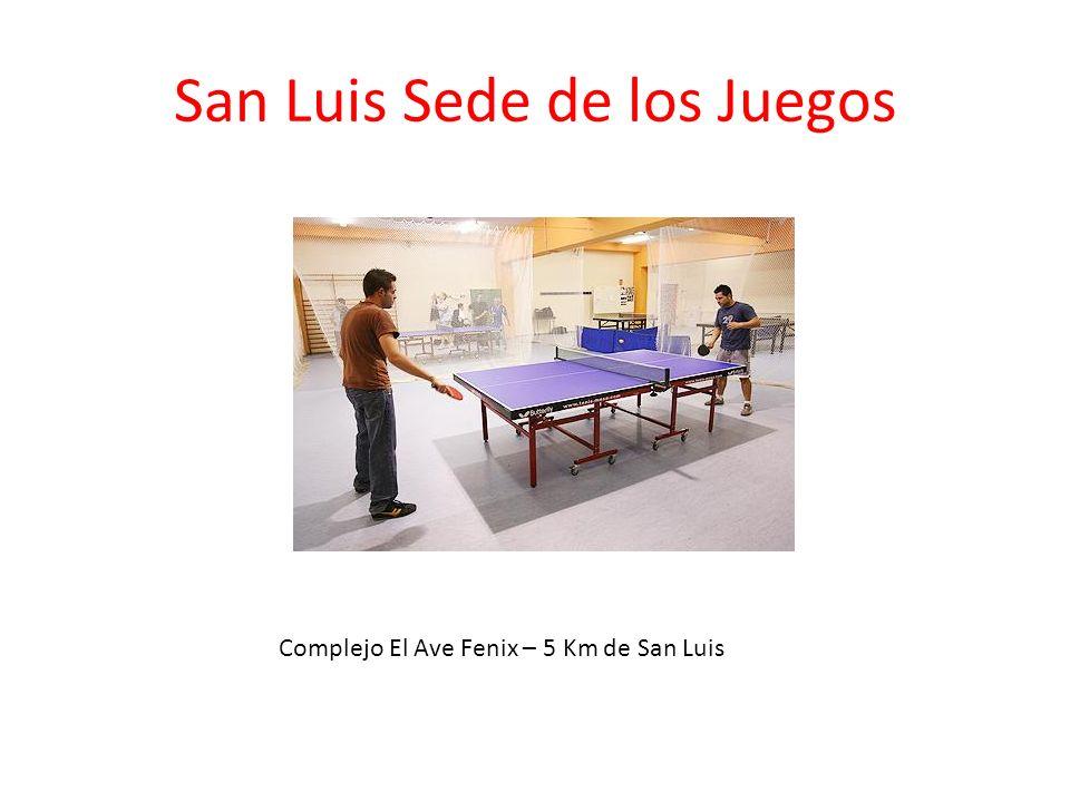 San Luis Sede de los Juegos Complejo El Ave Fenix – 5 Km de San Luis