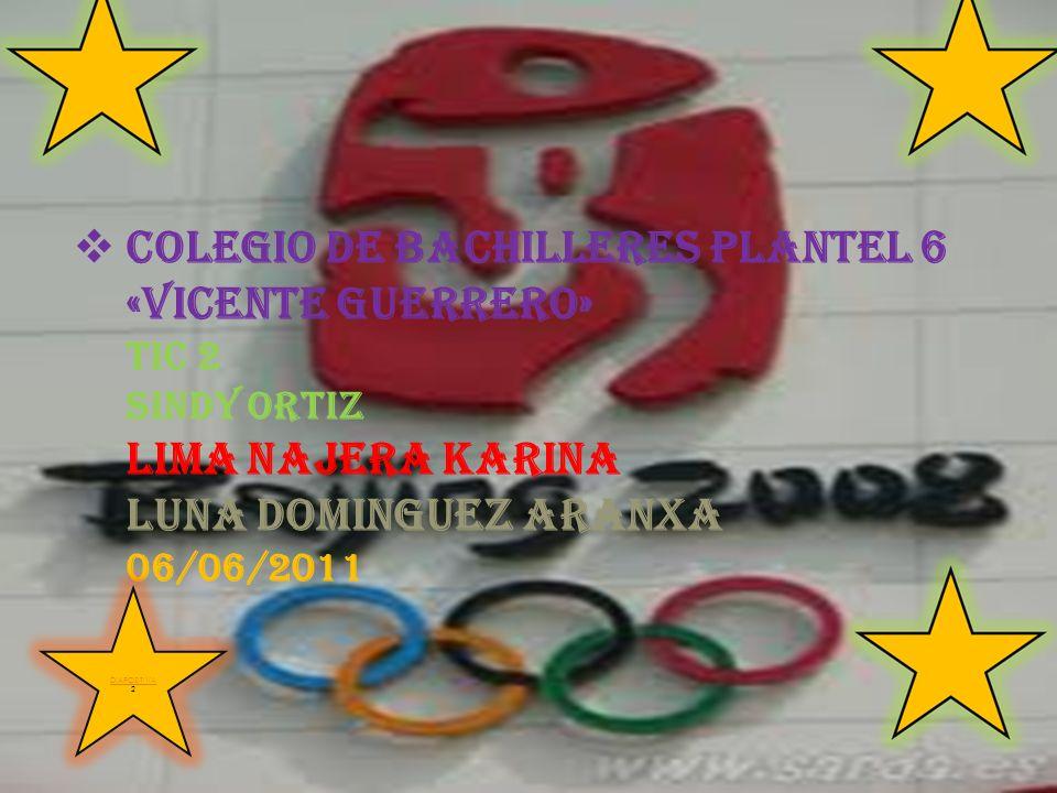 COLEGIO DE BACHILLERES PLANTEL 6 «VICENTE GUERRERO» TIC 2 SINDY ORTIZ LIMA NAJERA KARINA LUNA DOMINGUEZ ARANXA 06/06/2011 DIAPOSITIVA DIAPOSITIVA 2