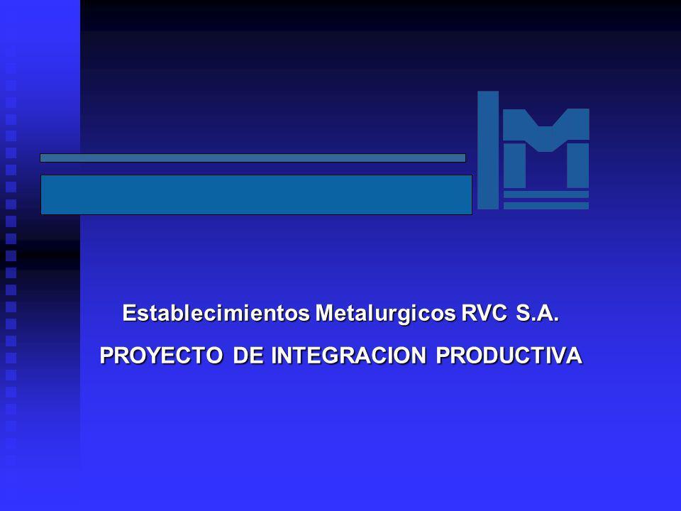 Establecimientos Metalurgicos RVC S.A. PROYECTO DE INTEGRACION PRODUCTIVA