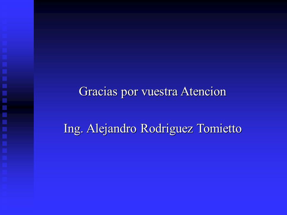 Gracias por vuestra Atencion Ing. Alejandro Rodriguez Tomietto