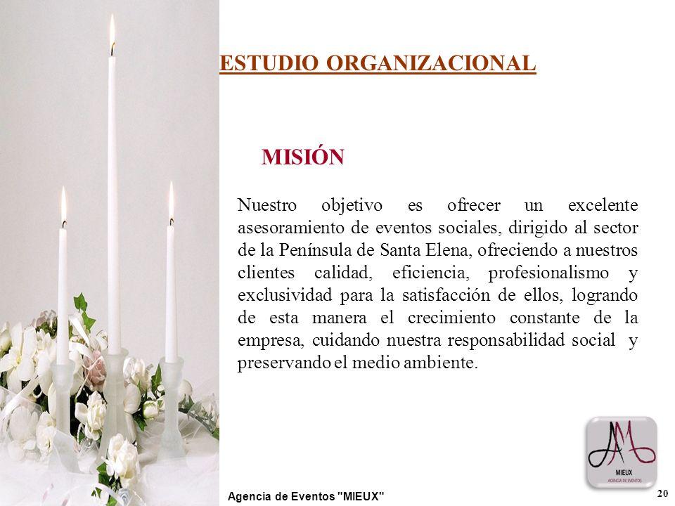 MISIÓN Nuestro objetivo es ofrecer un excelente asesoramiento de eventos sociales, dirigido al sector de la Península de Santa Elena, ofreciendo a nue