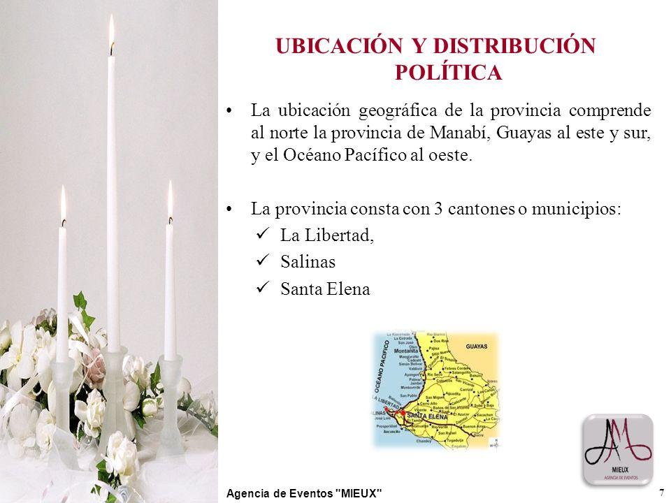 UBICACIÓN Y DISTRIBUCIÓN POLÍTICA La ubicación geográfica de la provincia comprende al norte la provincia de Manabí, Guayas al este y sur, y el Océano