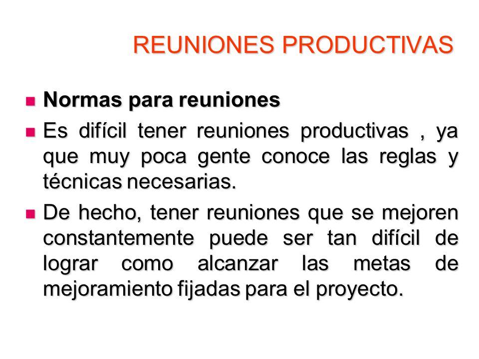REUNIONES PRODUCTIVAS Formato de la Agenda Formato de la Agenda REUNION NUMERO:………….