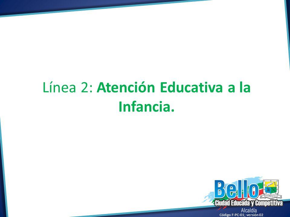 Código F-PC-01; versión 02 Línea 2: Atención Educativa a la Infancia.