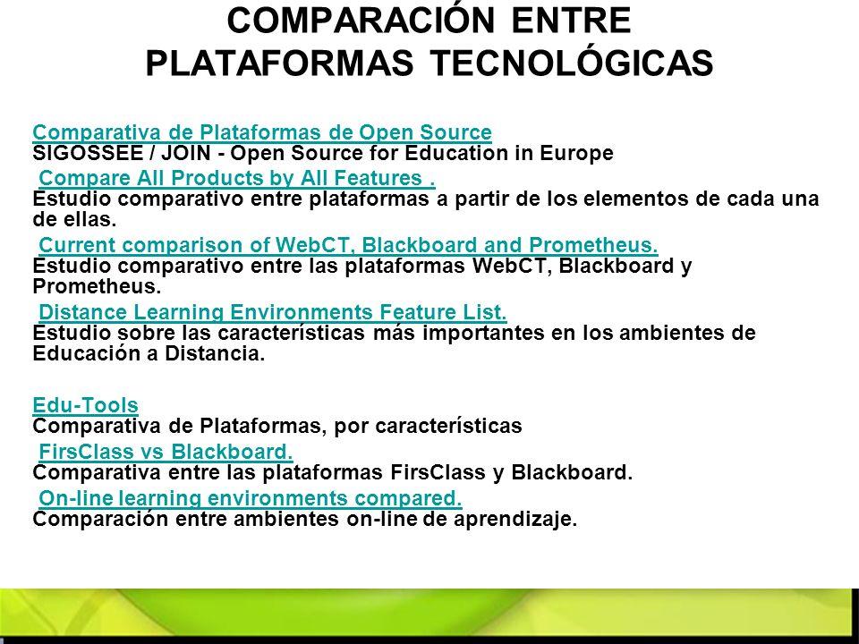 COMPARACIÓN ENTRE PLATAFORMAS TECNOLÓGICAS Comparativa de Plataformas de Open Source Comparativa de Plataformas de Open Source SIGOSSEE / JOIN - Open