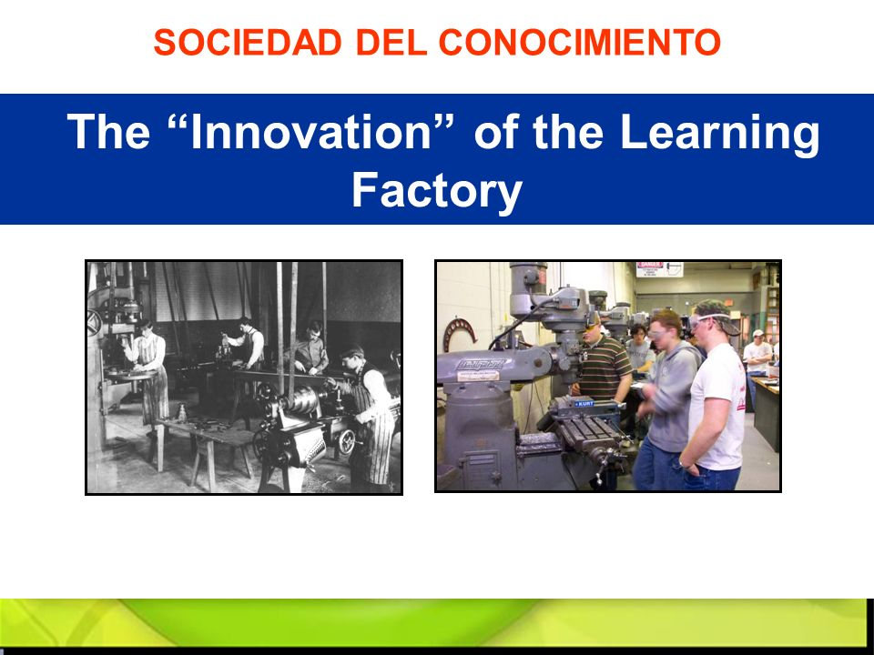 The Innovation of the Learning Factory SOCIEDAD DEL CONOCIMIENTO