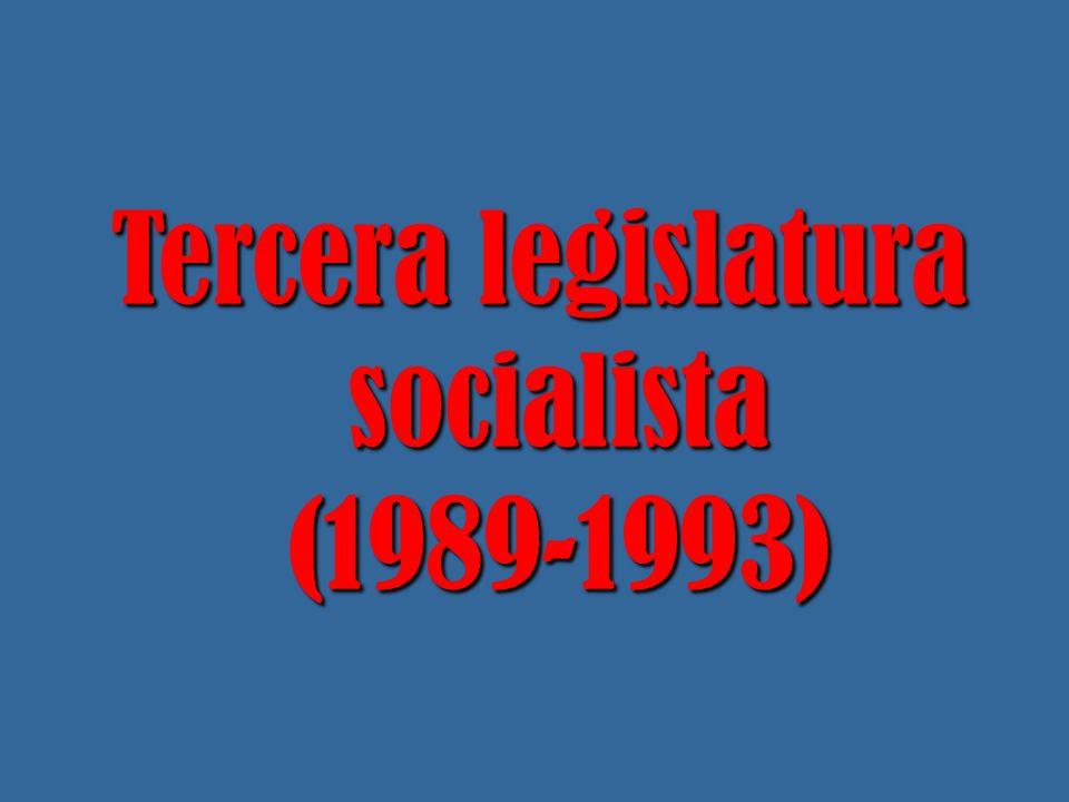 La presidencia española de la CEE en el primer semestre de 1989 le permitió recuperar parte de su prestigio y ganar por tercera vez las elecciones generales pero, por muy poco, sin mayoría absoluta