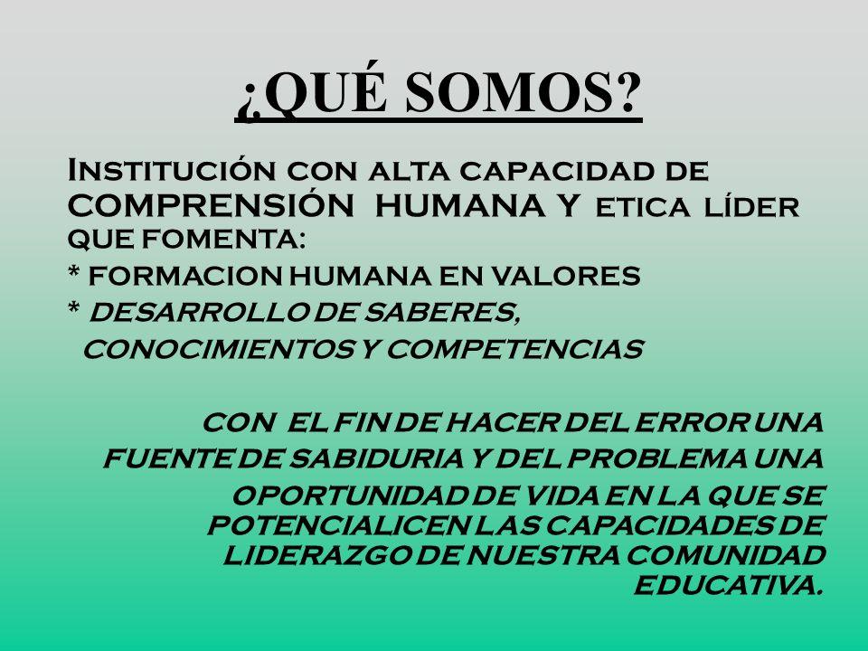 ÉNFASIS DEL PEI Consolidaci ó n de una cultura de vida personal, familiar, social. (1) Autonomía Consolidaci ó n de una cultura ciudadana. (2)Compromi