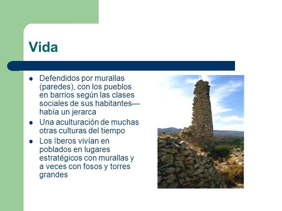 Vida Defendidos por murallas (paredes), con los pueblos en barrios según las clases sociales de sus habitantes había un jerarca Una aculturación de mu