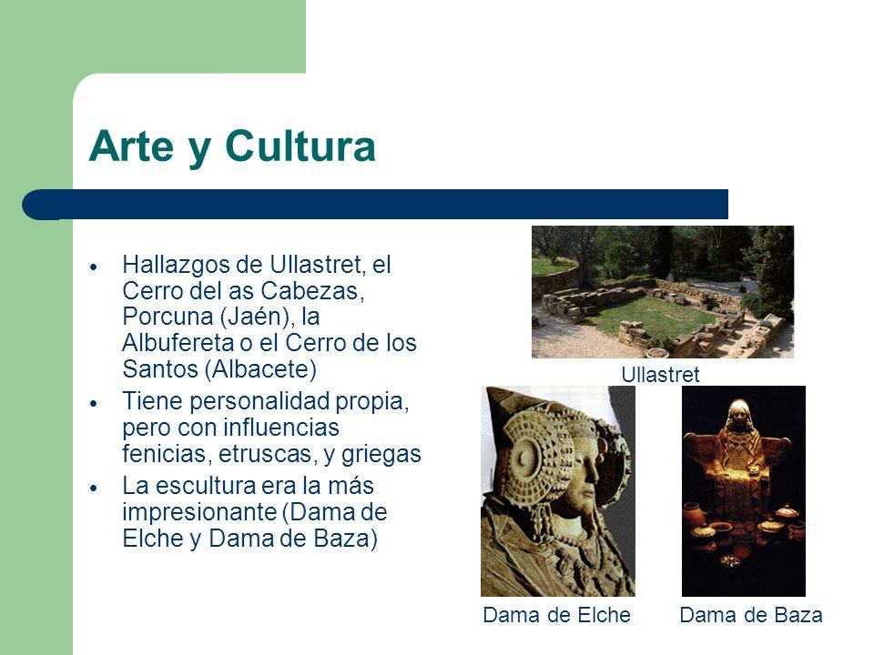 Arte y Cultura Hallazgos de Ullastret, el Cerro del as Cabezas, Porcuna (Jaén), la Albufereta o el Cerro de los Santos (Albacete) Tiene personalidad p