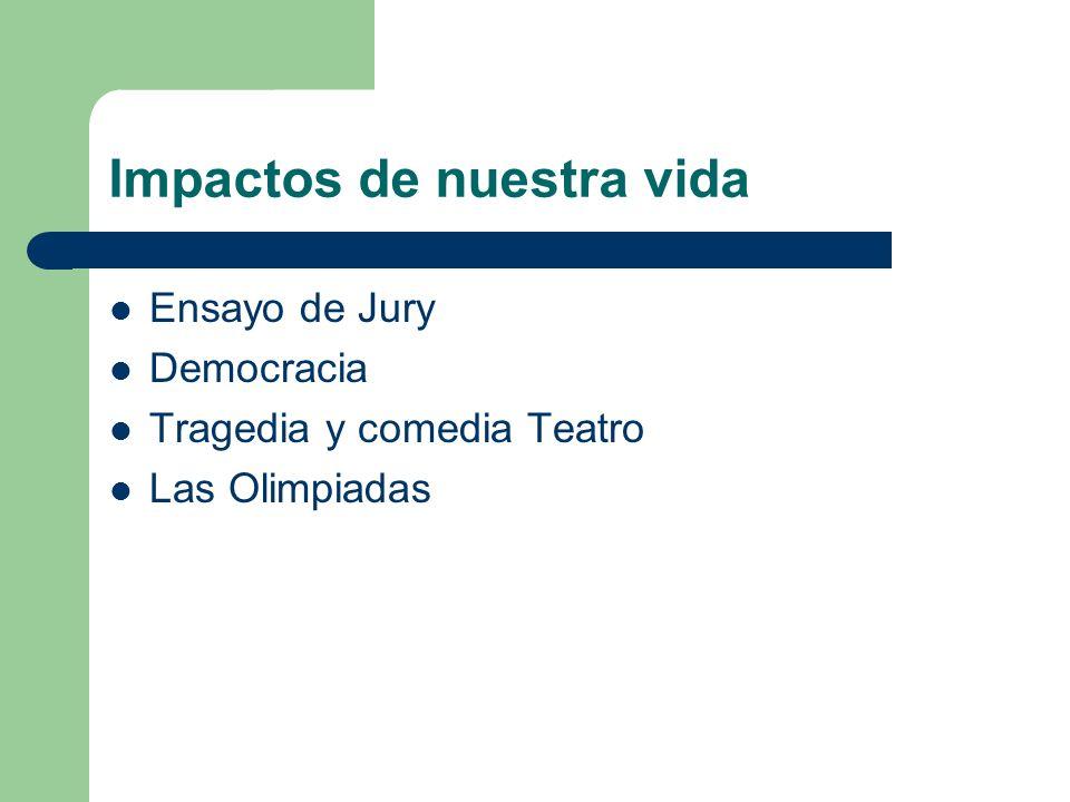 Impactos de nuestra vida Ensayo de Jury Democracia Tragedia y comedia Teatro Las Olimpiadas