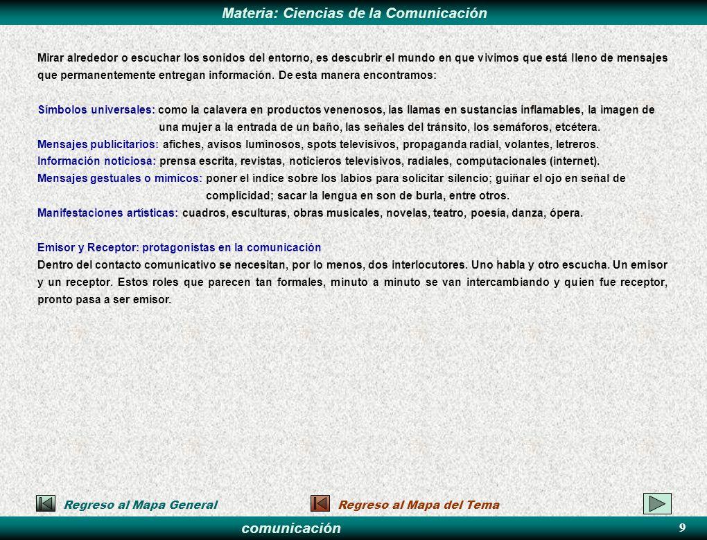 comunicación Materia: Ciencias de la Comunicación TIPOS DE COMUNICACIÓN El objeto de estudio de las Ciencias de la Comunicación –los procesos y fenómenos de comunicación.