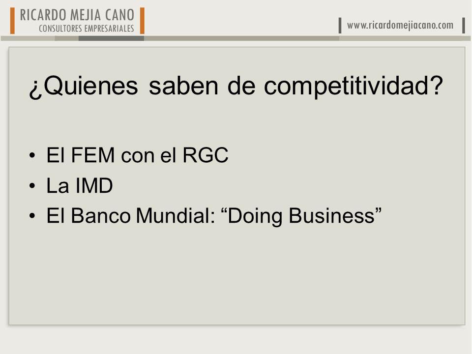 El que más se destaca es el del FEM Metodología de Michael Porter y Jeffrey Sachs Índices para Innovación y relación Univ.-Empresa.