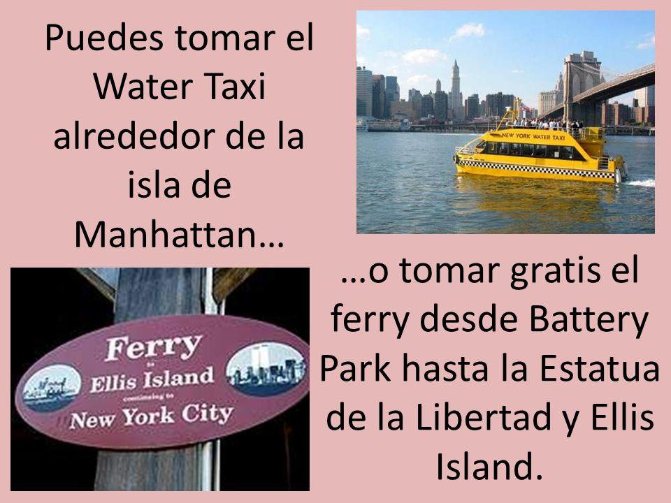 …en autobuses o en un taxi. Aquí los taxis son llamadoscabs.