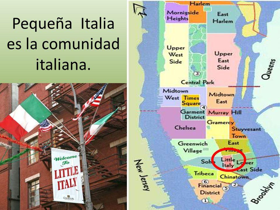 Personas del mismo origen a menudo viven en la misma zona, creando sus propias comunidades.