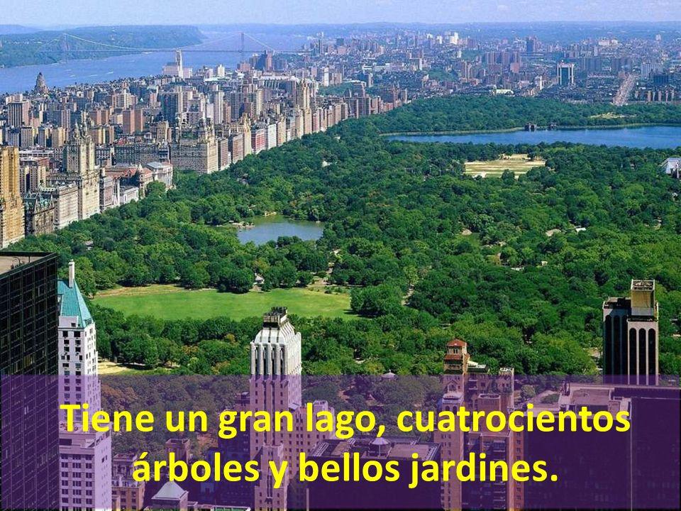 Parque Central es el 6% de Manhattan.