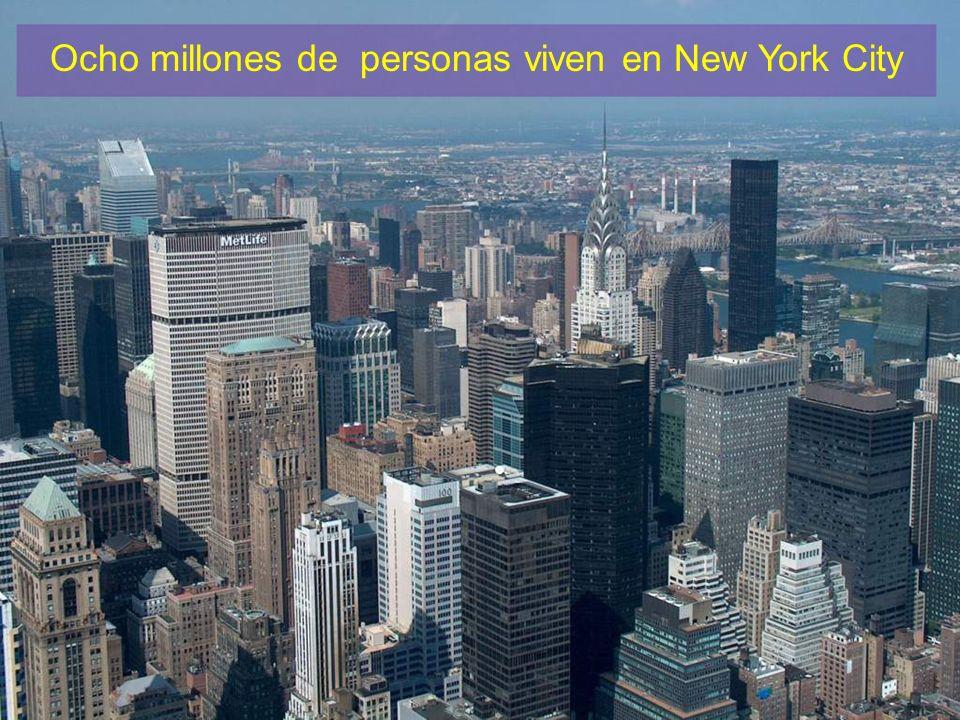 Ocho millones de personas viven en New York City