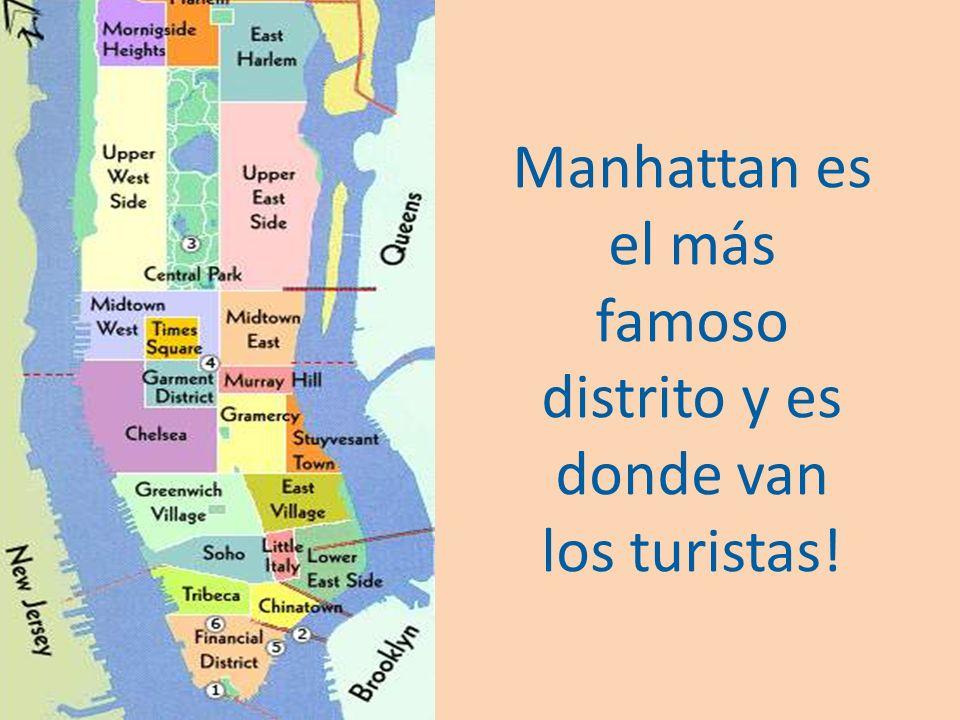 New York tiene cinco distritos: Manhattan, Brooklyn, Bronx, Queens y Staten Island