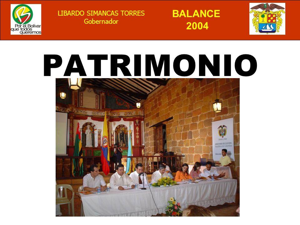 BALANCE 2004 LIBARDO SIMANCAS TORRES Gobernador PATRIMONIO