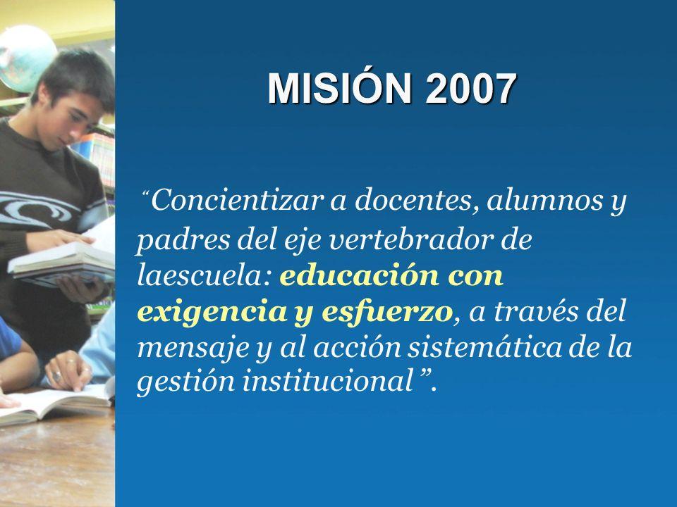 OBJETIVOS 2007 Desarrollar la competencia comunicacional como eje transversal y vertebrador de la institución.