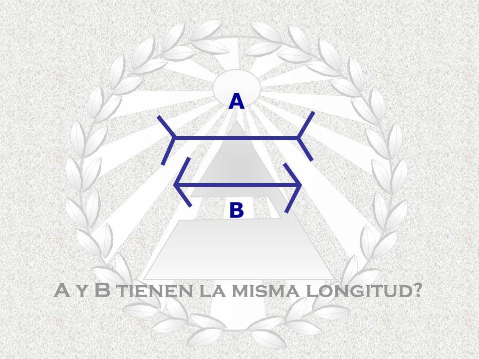 A y B tienen la misma longitud? A B