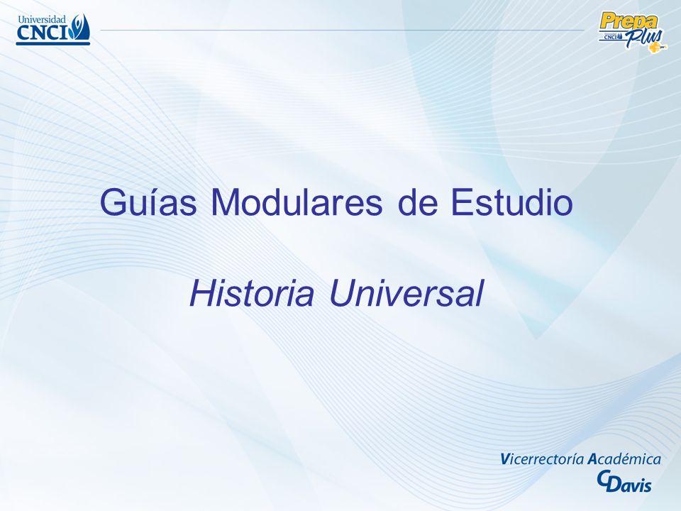 Guías Modulares de Estudio Historia Universal