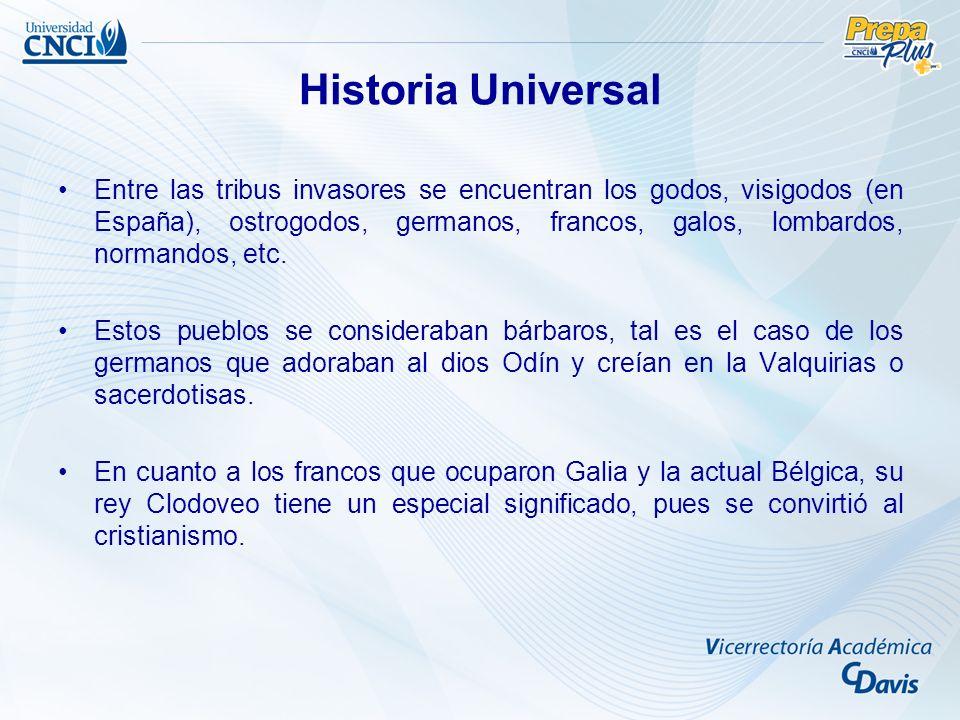 Entre las tribus invasores se encuentran los godos, visigodos (en España), ostrogodos, germanos, francos, galos, lombardos, normandos, etc. Estos pueb