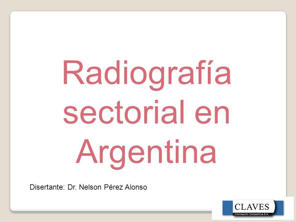 Radiografía sectorial en Argentina Disertante: Dr. Nelson Pérez Alonso