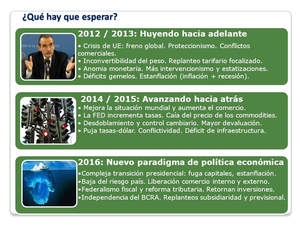 ¿Qué hay que esperar.2012 / 2013: Huyendo hacia adelante Crisis de UE: freno global.