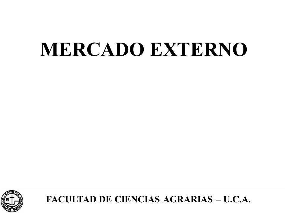 FACULTAD DE CIENCIAS AGRARIAS – U.C.A. MERCADO EXTERNO