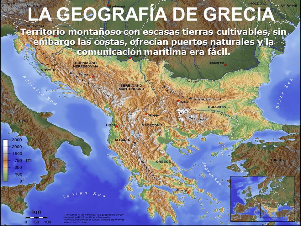 La Grecia antigua o Hélade se desarrolló en la parte sur de la Península de los Balcanes, en las islas del mar Egeo y en las costas del Asia Menor.