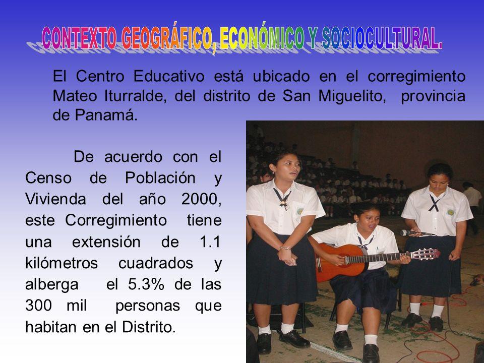 Magíster Rodolfo García Vega De acuerdo con el Censo de Población y Vivienda del año 2000, este Corregimiento tiene una extensión de 1.1 kilómetros cu