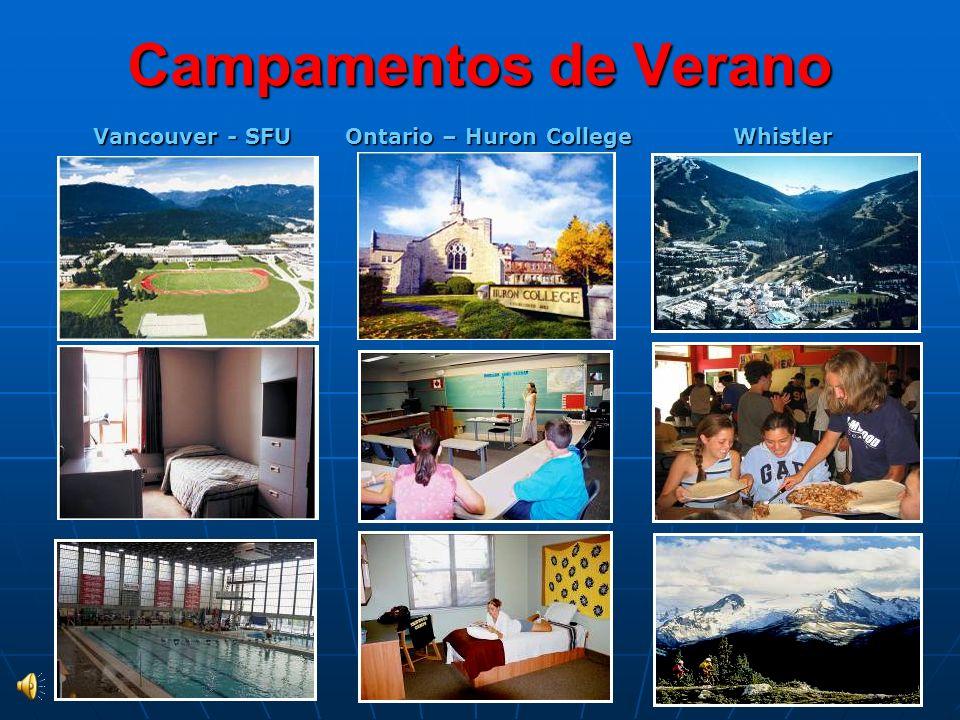 Campamentos de Verano Ontario – Huron College Vancouver - SFU Whistler